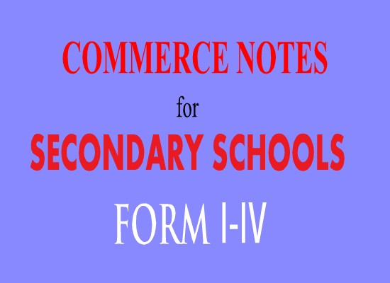 Photo of COMMERCE STUDY NOTES, FORM TWO TOPIC 1-2