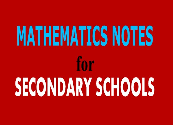 Photo of FORM FOUR MATHEMTICS STUDY NOTES TOPIC 3-4,