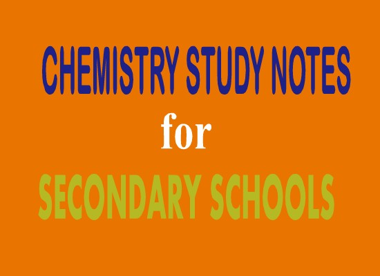Photo of CHEMISTRY STUDY NOTES FOR SECONDARY SCHOOLS EDUCATION.