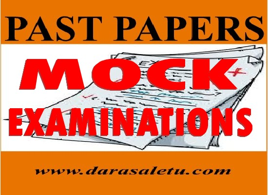 Photo of PAST PAPERS FOR  MOCK EXAMINATION TANZANIA (TAMONGSCO, TAHOSA ETC.)