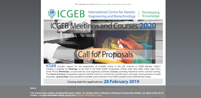 Photo of CALL FOR PROPOSALS FULL FUNDED FOR ICGEB FUNDED MEETINGS AND COURSES 2020.